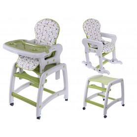 Maitinimo kėdutė-transformeris su lingėmis Green Flower