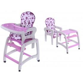 Maitinimo kėdutė-transformeris Purple Flower