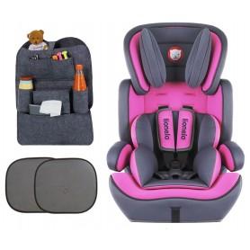 Automobilinė kėdutė Levi Plus Pink 9-36 kg + Dovana
