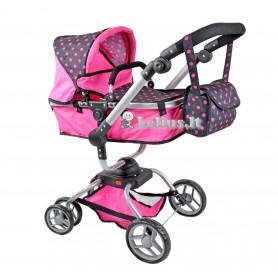 Vežimėlis lėlėms Kella (spalva - hot pink)
