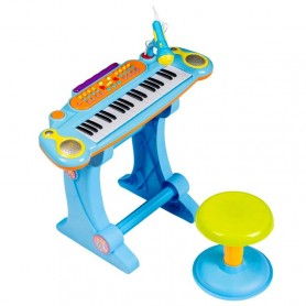 Vaikiškas pianinas su kedute Sky Blue