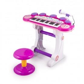 Vaikiškas pianinas su kedute Pink