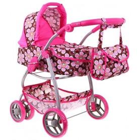 Lėlės vežimėlis Belly (spalva - pink flower)