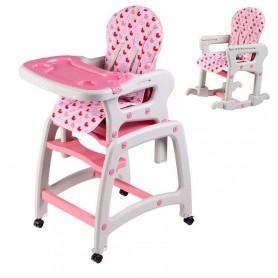 Maitinimo kėdutė-transformeris Pink su lingėmis