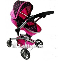 Vežimėlis lėlėms Bunny (spalva - hot pink)