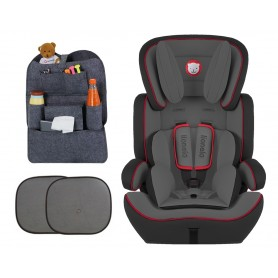 Automobilinė kėdutė Levi Plus Grey/Red 9-36 kg + Dovana