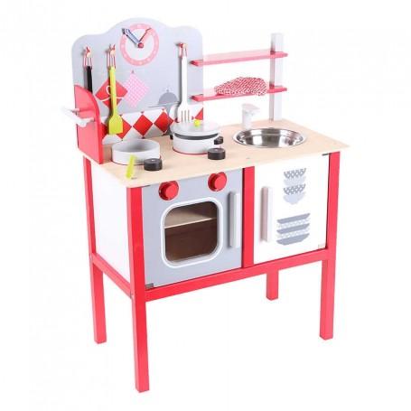 Medinė vaikiška virtuvėlė