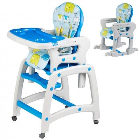 Maitinimo kėdutė-transformeris Blue su lingėmis