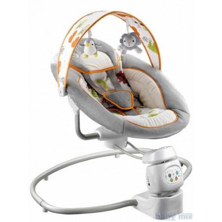 BabyMix kūdikio supynės 360° De Luxe Light Grey