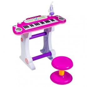 Vaikiškas pianinas su kedute Sky Pink