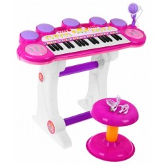 Vaikiškas pianinas su kedute Power Pink