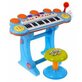 Vaikiškas pianinas su kedute Power Blue