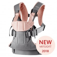 Nešynė BabyBjorn One Grey / Powder Pink