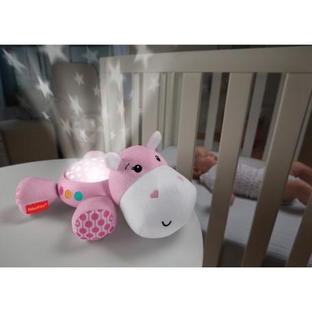 Migdukas-projektorius Fisher Price Hippo Pink