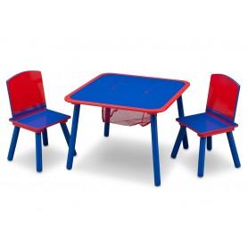 Medinis staliukas su 2 kėdutėmis Blue