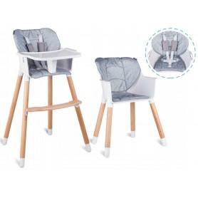 Maitinimo kėdutė 2in1 Grey Stripe
