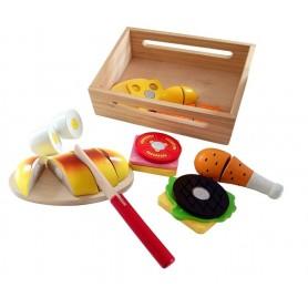 Pjaustomų maisto produktų rinkinys dėžutėje
