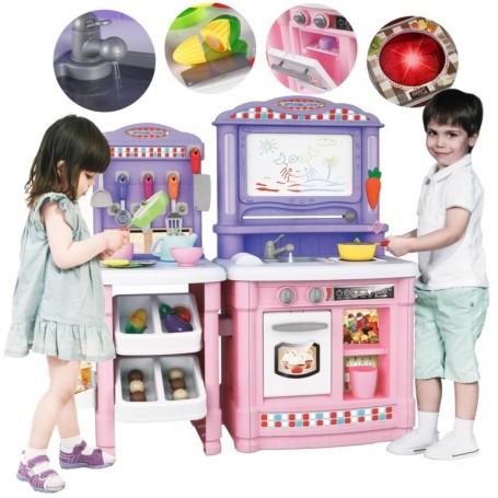 Virtuvėlė Pink su garsais ir vandenuku + 66 aksesuarai