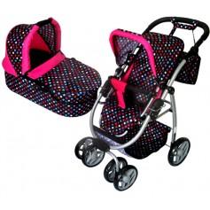 Lėlės vežimėlis Belly (spalva - multicolor)