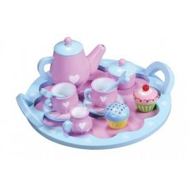 Medinis arbatos rinkinys su padėklu