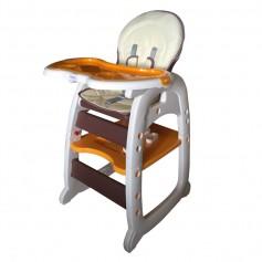 Maitinimo kėdutė - transformeris Orange_Brown
