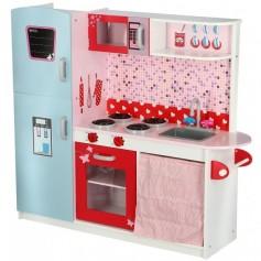 Vaikiška medinė virtuvėlė Paris su indais