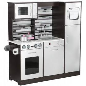 Vaikiška medinė virtuvėlė Paris Grey su indais