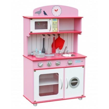 Medinė virtuvėlė Sofia Pink su priedais