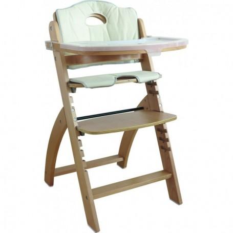 Medinė maitinimo kėdutė Moritz su staliuku ir įdekliuku