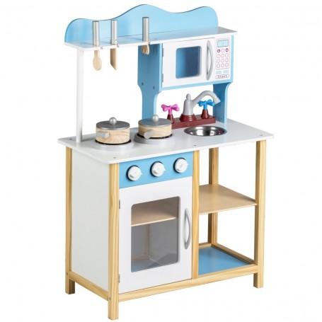 Medinė vaikiška virtuvėlė Blue