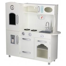 Didelė medinė virtuvėlė Retro su šaldytuvu