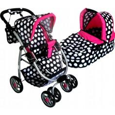 Lėlės vežimėlis Belly (spalva - white bubble)