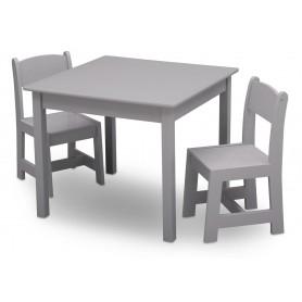 Vaikiškas staliukas su 2 kėdutėmis Grey