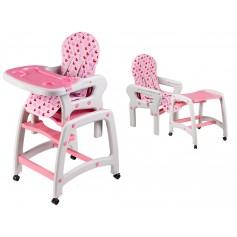 Maitinimo kėdutė-transformeris Pink