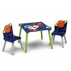 Vaikiškas staliukas su 2 kėdutėmis Astronautas