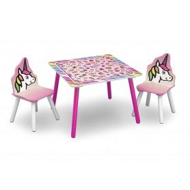 Vaikiškas staliukas su 2 kėdutėmis Unicorn
