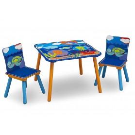 Medinis staliukas su 2 kėdutėmis Ocean