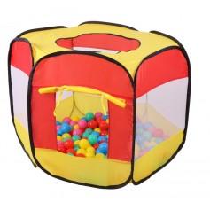 Pop Up žaidimų palapinė su kamuoliukais