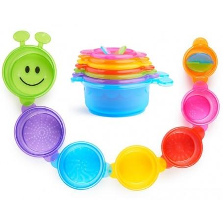 Munchkin vonios žaislas - indeliai Caterpillar Spillers