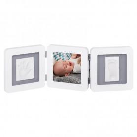 Baby Art trigubas rėmelis su įspaudais White