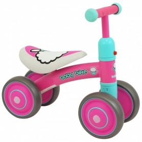 Mini paspirtukas - dviratukas Baby Bike Pink
