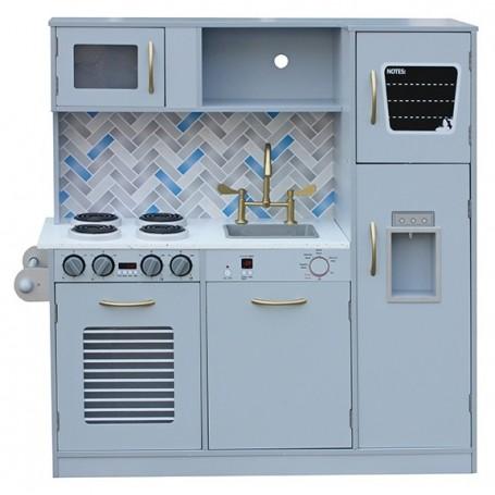 Vaikiška medinė virtuvėlė Modern su indais