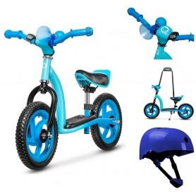 Metalinis balansinis dviratukas ROY Blue + DOVANA