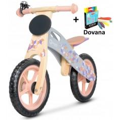 Balansinis dviratukas Pink Mosaic + DOVANA