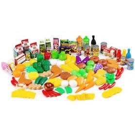 Žaislinis maisto produktų rinkinys (120 vnt.)