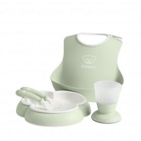 BabyBjorn maitinimo komplektas: lėkštutė, įrankiai, puodelis, seilinukas