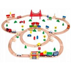 Elektrinis traukinukas su trasa (90 detalių)