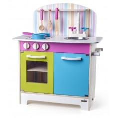 Medinė vaikiška virtuvėlė Julia su priedais