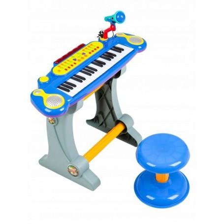 Vaikiškas pianinas su kedute Multi Blue