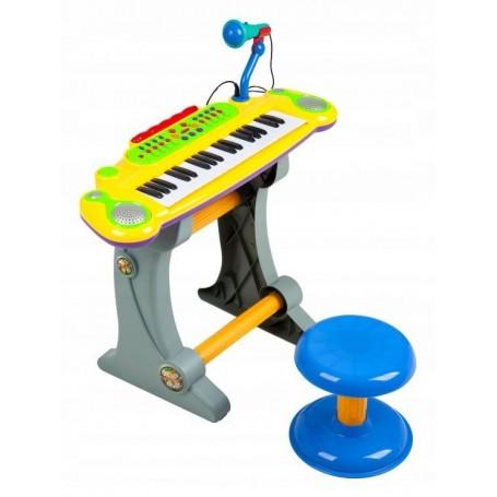 Vaikiškas pianinas su kedute Multi Yellow